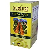 Yerba Mate, Organic, Unsmoked, Green Energy, 24 Tea Bags, Eco Teas