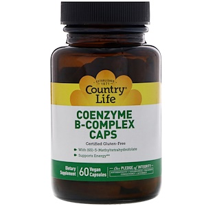 Coenzyme B-Complex Caps, 60vege caps, Country Life
