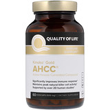 AHCC Kinoko Gold, Immune Support, 500 mg 60 Vege Caps, Quality of Life Labs