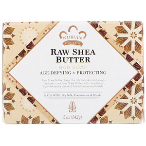 Raw Shea Butter Soap, with Soy Milk, Frankincense + Myrrh, Nubian Heritage