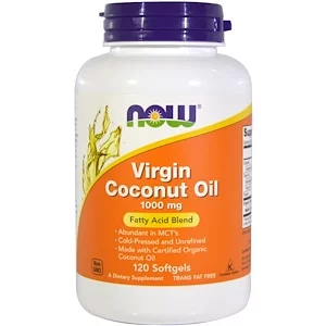 Virgin Coconut Oil, 1000 mg, 120 capsules, Now Foods