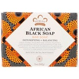 African Black Soap Bar, with Aloe Vera, Oats + Vitamin E, 5oz (142g), Nubian Heritage