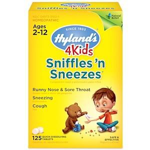 Sniffles 'n Sneezes 4 Kids, 125 Quick-Dissolving Tablets