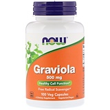 Graviola, 500 mg, 100 Veg Capsules, Now Foods