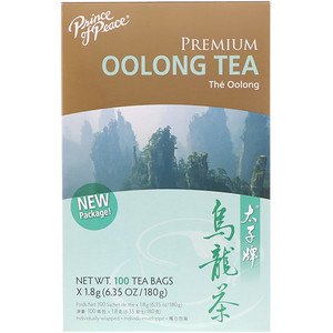 Premium Oolong Tea Bags, 100 Tea Bags, Prince of Peace