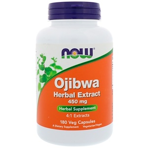Ojibwa Herbal Extract, 450 mg, 180 Vcaps, Now Foods