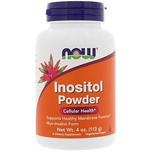 Inositol Powder, 4 oz (113 g), Now Foods