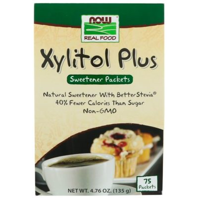 Xylitol Plus, 75 Packets, 4.76 oz (135 g), Now Foods