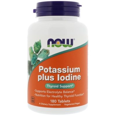 Potassium Plus Iodine, 180 Tablets, Now Foods