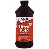 B12, Ultra B-12, 16 fl oz (473 ml), Now Foods