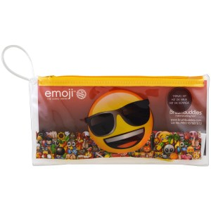 Emoji, Toothbrushing Travel Kit, 3 Piece Kit, Brush Buddies
