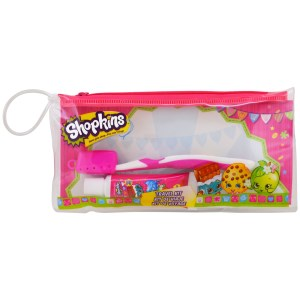 Shopkins, Toothbrushing Travel Kit, 3 Piece Kit, B