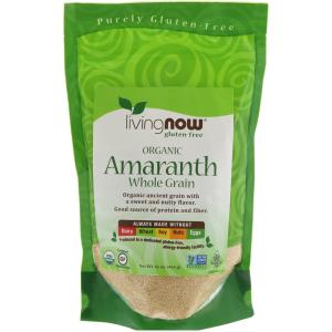 Amaranth, Whole Grain, Organic, 16 oz (454 g), Now Foods