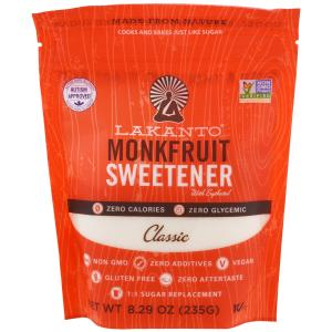 Monkfruit Sweetener with Erythritol, Classic, Monk Fruit, 8.29 oz (235g), Lakanto