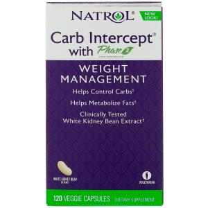 Carb Intercept with Phase 2 Carb Controller, 1000 mg, 120 Veggie Capsules, Natrol