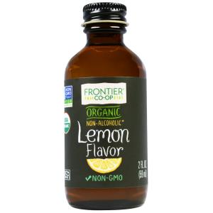 Lemon Flavour, Organic, Non-Alcoholic, 2 fl oz (59 ml), Frontier Natural Products