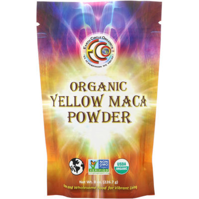 Yellow Maca Powder, Organic, 8 oz (226.7 g), Earth Circle Organics
