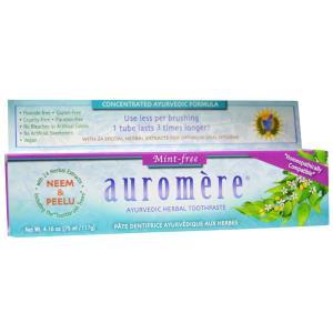 Ayurvedic Herbal Toothpaste, Mint-Free, Organic Neem, 4.16 oz (117 g), Auromere