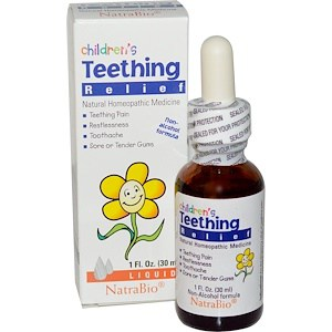 Children's Teething Relief, Non-Alcohol Formula, Liquid, 1 fl oz (30 ml), NatraBio