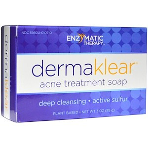 Acne Treatment Soap, 3oz (85g), DermaKlear, Enzymatic Therapy