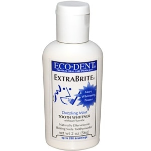 ExtraBrite, Tooth Whitener, Baking Soda Tooth Powder, Dazzling Mint, 2 oz (56 g), Eco-Dent