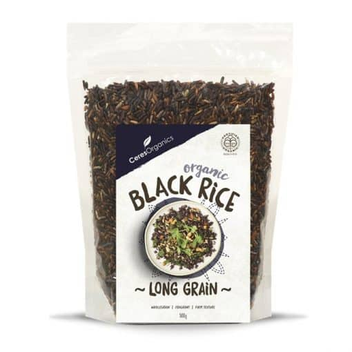 LONG GRAIN BLACK RICE, 500GM, CERES