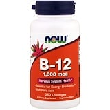 B-12, 1,000 mcg, 250 Lozenges, Now Foods
