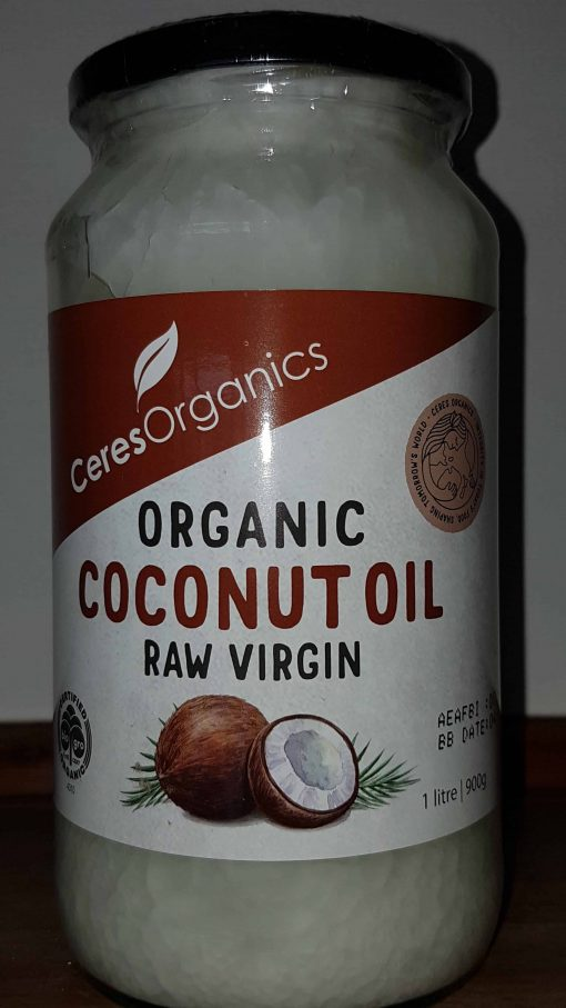 Organic Coconut Oil, Raw Virgin, 1ltr, Ceres Organics