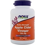 Apple Cider Vinegar, Extra Strength, 750 mg, 180 Tablets, Now Foods