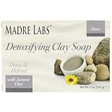 Detoxifying Clay, Bar Soap, Eucalyptus & Peppermint, with Ancient Clay, 5 oz (141 g), Madre Labs