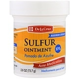 Sulfur Ointment, Acne Medication, Maximum Strength, 2.6 oz (73.7 g), De La Cruz
