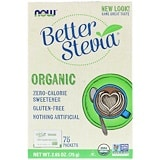 Better Stevia, Certified Organic, 75 Packets, 2.65 oz (75 g), Now Foods