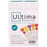 Electrolyte Powder, Balanced, Variety Pack, 20 Packets, 2.4 oz (68 g), Ultima Replenisher