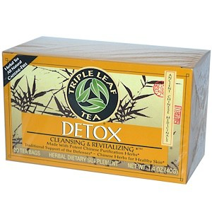 Detox, 20 Tea Bags, 1.4 oz (40 g), Triple Leaf Tea