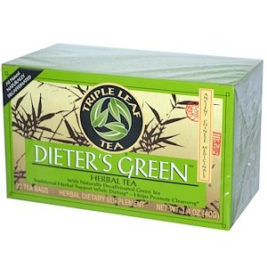 Dieter's Green, Herbal Tea, Decaf, 20 Tea Bags, 1.4 oz (40 g), Triple Leaf Tea