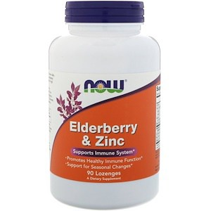 Elderberry & Zinc, 90 Lozenges, Now Foods