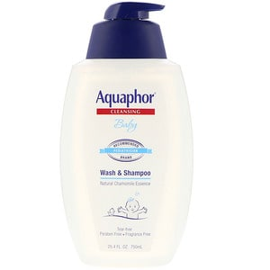Baby, Wash + Shampoo, Fragrance Free, 16.9 fl oz (500 ml), Aquaphor