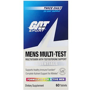 Mens Multi + Test, 60 Tablets, GAT