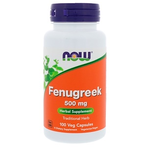 Fenugreek, 500 mg, 100 Capsules, Now Foods