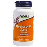 Hyaluronic Acid, with MSM, 60 Vcaps, Now Foods