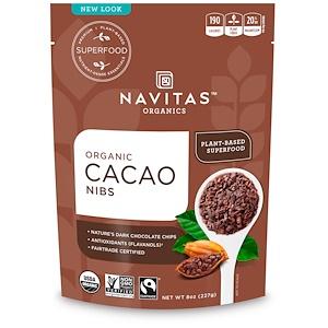 Cacao Nibs, Organic, 8 oz (227 g), Navitas Organics