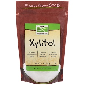 Xylitol, Real Food, 1 lb (454 g), Now Foods
