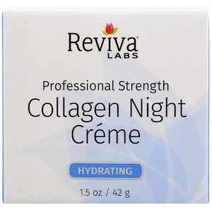 Collagen Night Creme, 1.5 oz (42 g), Reviva Labs