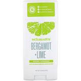 Deodorant, Natural, Bergamot + Lime, 3.25 oz (92 g), Schmidt's Naturals