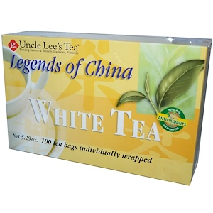 White Tea, 100 Tea Bags, 5.29 oz (150 g), Legends of China, Uncle Lee's Tea