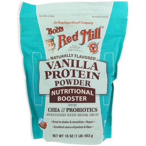 Vanilla Protein Powder, Nutritional Booster with Chia & Probiotics, 16 oz (453 g), Bob's Red Mill
