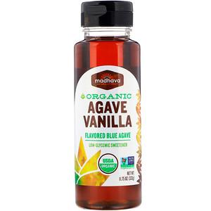 Agave, Vanilla, Organic, 11.75 oz (333 g), Madhava Natural Sweeteners