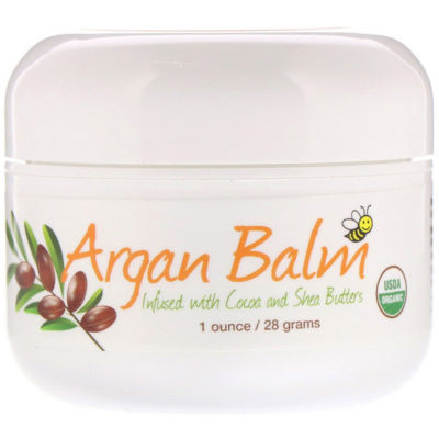 Argan Balm With Cocoa & Shea Butter, 1 oz (28 g), Sierra Bees