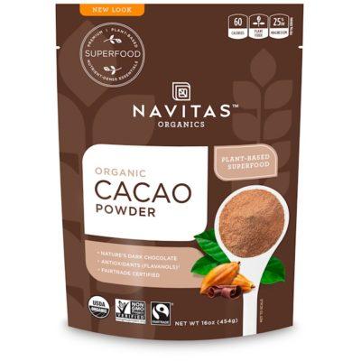 Cacao Powder, Organic, 16 oz (454 g), Navitas Organics