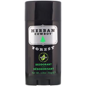 Deodorant, Forest, 2.8 oz (80 g), Herban Cowboy